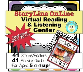 Storyline Online is one of my favorite websites to use with students. I have created a virtual reading and listening center using QR codes that make it easy to access the wonderful stories. Recently updated with all 41 stories! Includes posters, foldable stories, activity guides!