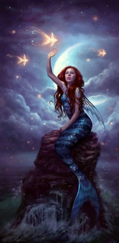 Beautiful mermaid artw...