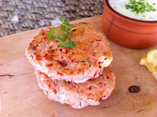 Salmon Burgers with Fake Mayonnaise (Dukan)