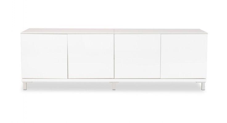 Dressoir MiPuro II wit set 4-deurs (160 cm breed x 42 hoog x 39 diep) - 329 euro
