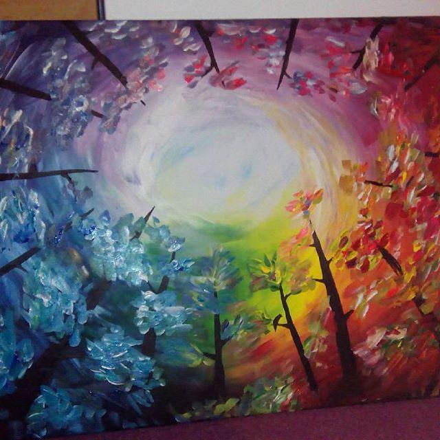 Painting 💟💟💟 #colorful #saint #paint #painting #art #arts #color #rainbow #year #activity #followme #follow4follow #funtimes #loveit #love #painter #acrylic  #acryl #holiday #winter #christmas #christmastpresent #present #obraz #malovat #malovanie #farby #instaphoto
