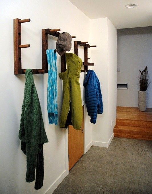 Functional and cool wall mounted coat rack ideas for your hallway