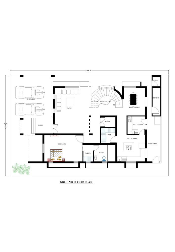 66x42 House Plans For Your Dream House House Plans How To Plan House Plans House Floor Plans