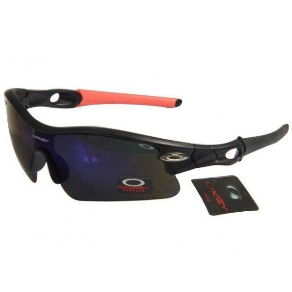 $14.99 Cheap Oakley Radar Sunglasses Deep Blue Lens Black Pink Black Frames  Deal www.racal
