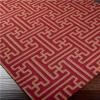 Grecian Maze Dhurrie Rug  - Living Room