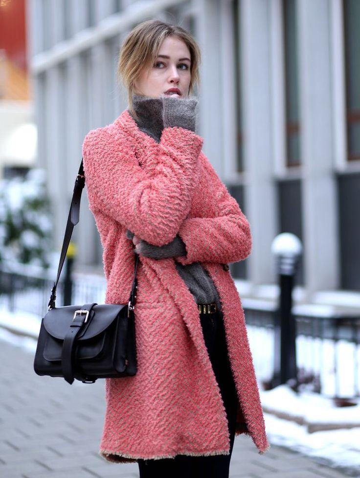 Love this coat for the winter! Pink really is the new pink.  Check out faithglamcoffee.com for more fashion! #fashion #faithglamcoffee