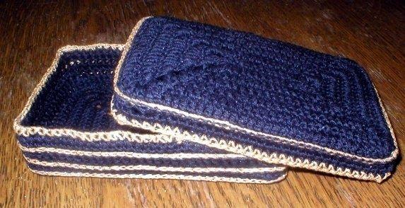 crocheted tarot box cover