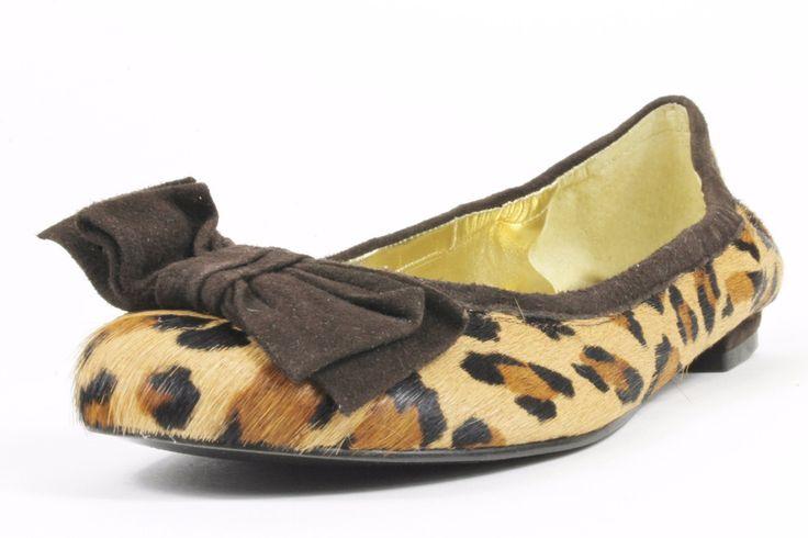 Lauren Ralph Lauren Evelia 3 Leopard Leather Flats
