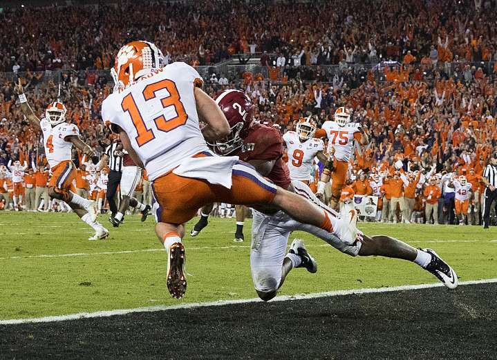 Sports Illustrated's 100 Best Photos of 2017 - December 14, 2017:  CLEMSON VS. ALABAMA | COLLEGE FOOTBALL PLAYOFF NATIONAL CHAMPIONSHIP