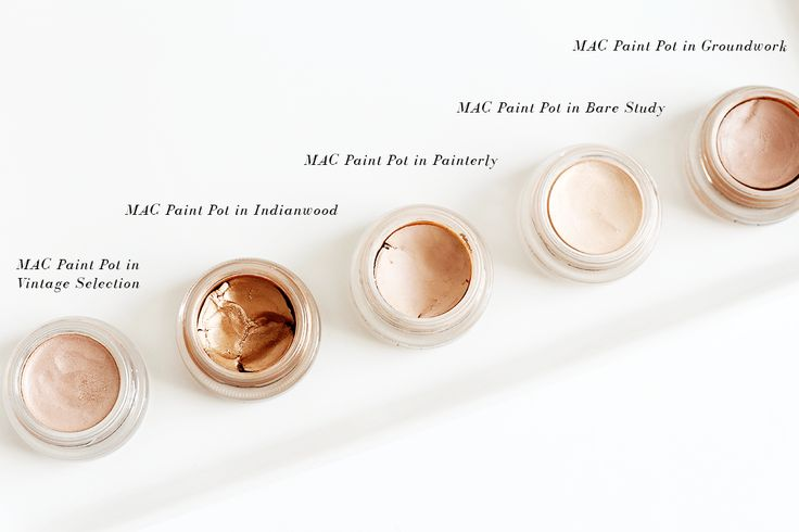 MAC paint pot vintage selection painterly groundwork bare study indianwood  Painterly is my favorite!