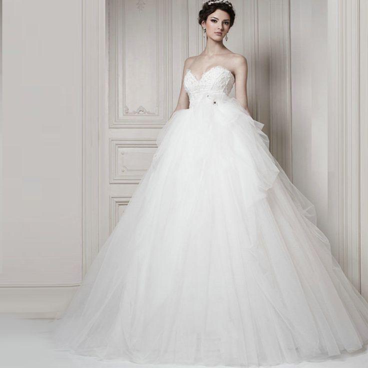 Buy Used Wedding Gowns: Aliexpress.com : Buy Tube Top Flower Wedding Dress White