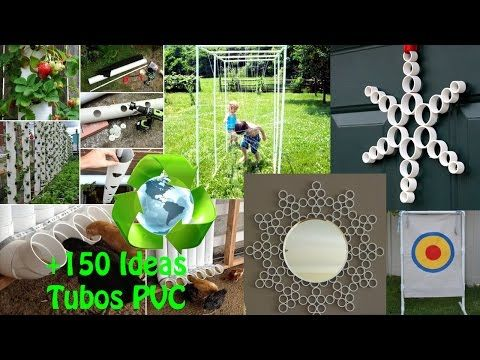 Reciclaje de Tubos PVC +150 Ideas / Recycling PVC pipes +150 Ideas - YouTube