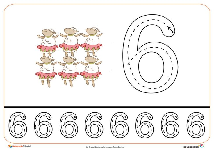 14grafomotricidad numeros | El Portal de Educapeques