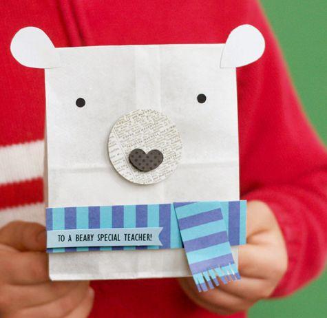 Polar Bear Teacher Gift Bag