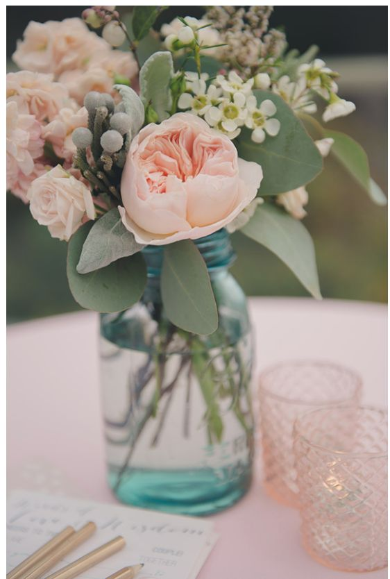 Peonies, spray roses blush colors