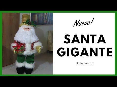 SANTA GIGANTE   PAPA NOEL   DECORACION NAVIDEÑA - YouTube