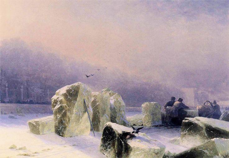 Иван Айвазовский. Ледорубы на замерзшей Неве