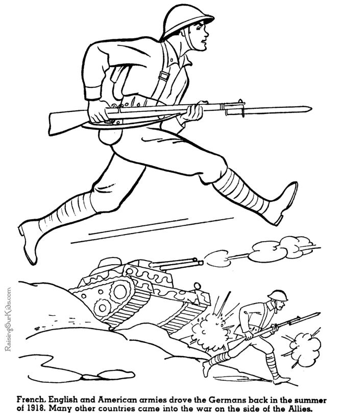 army printable coloring sheet