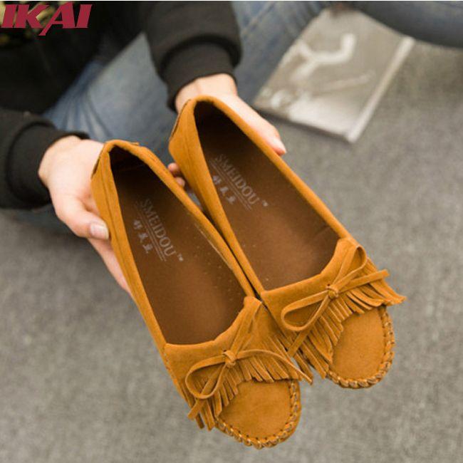 2015 mulheres verão apartamentos sapatos casuais Slip On mulheres mocassins borlas Decor doce Bowtie Nubuck Flats grávidas sapatos XWA0110 5 em Sapatos Flat de Sapatos no AliExpress.com | Alibaba Group