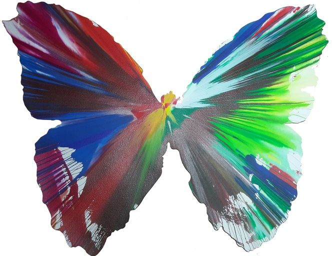 After Damien Hirst, Butterfly Spin Painting, 2009 on Paddle8