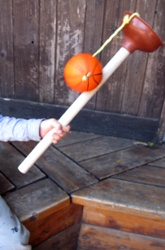 DIY ball catch. Make this for M!