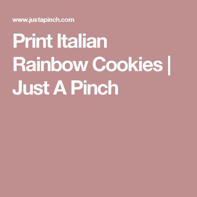 Print Italian Rainbow Cookies | Just A Pinch