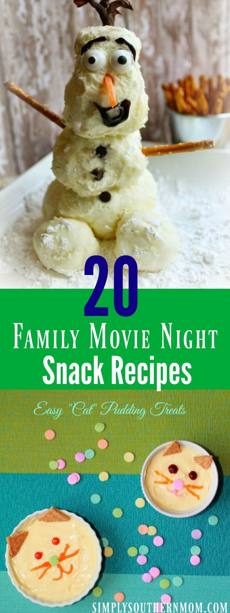 Planning a movie night with the family? Serve any of these 20 cute snacks and you'll please the entire family.