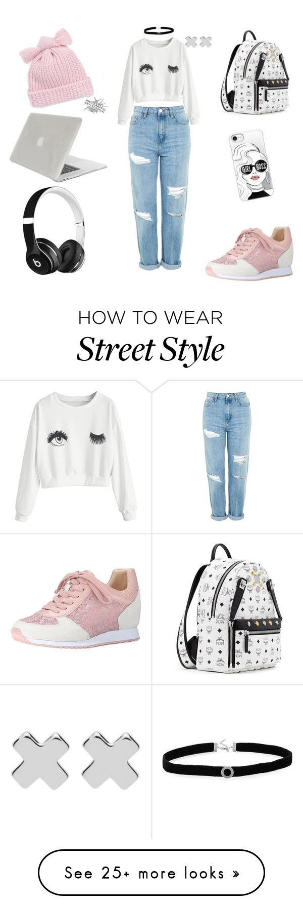 """""""Back to School"""" by maxine-01 on Polyvore featuring Topshop, Nine West, Beats by Dr. Dre, MCM, Helene Berman, Casetify, Witchery, BillyTheTree and Tucano"""