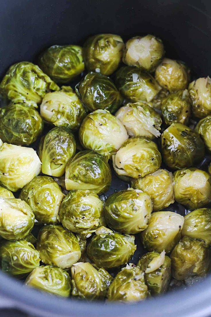 Instant Pot Roasted Brussels Sprouts   – Dinners