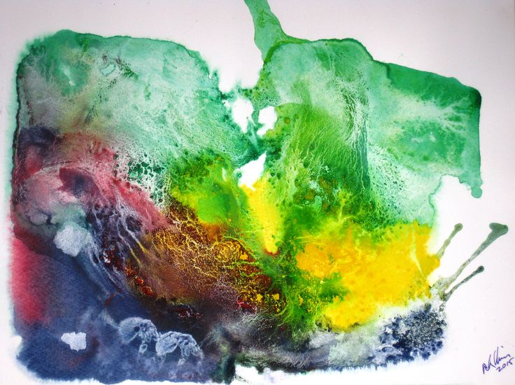 Avalanche was done with acrylics and watercolor on wet cold pressed paper. See more examples of my work at rloliverartist.com.