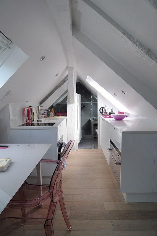 Un très petit appartement (surface habitable 16 m2) aménagé par l'architecte S. Cahen