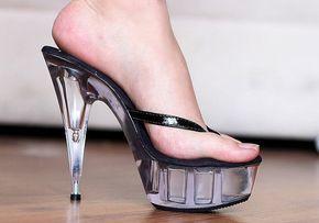 VIP 6 pulgadas negro hecho a mano / claro zapatos de por IdealHeels