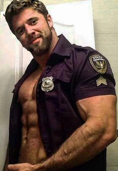 Hot gay police men having sex breaking and