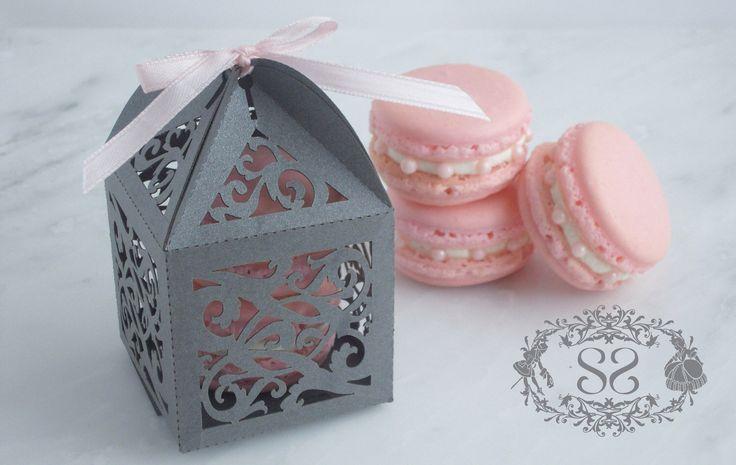 Wedding Favor Macaron Favor Opulent Wedding Ornate Favor Box and (2) French Macaroon by SplendidSweetShoppe on Etsy https://www.etsy.com/listing/112895764/wedding-favor-macaron-favor-opulent