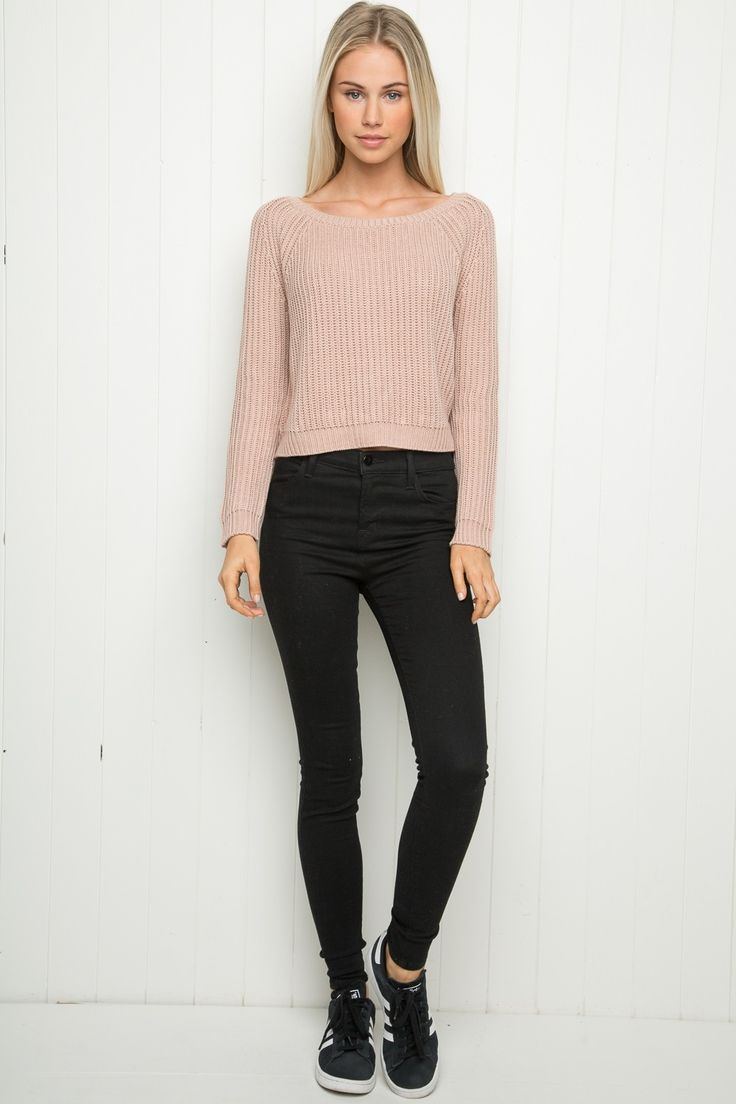 Black t shirt dress brandy melville - Brandy Melville Gwen Sweater Clothing Soft And Cozy Cable Knit Sweater In Blush
