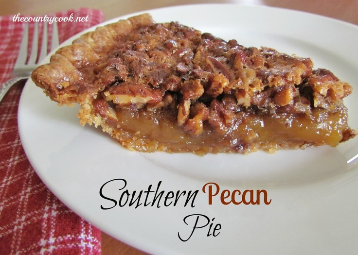 The Country Cook: Southern Pecan Pie: Desserts, Southern Pecans Pies Recipes, Pierecip, Food, Sweet Tooth, Thanksgiving Recipes, Country Cooking, Yummy, Pecan Pies