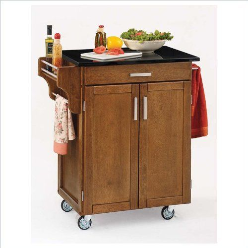 Home Styles 9001-0064 Create-a-Cart 9001 Series Cuisine Cart with Black Granite Top, Warm Oak, 32-1/2-Inch by Home Styles. $272.74. Measures 32-1/2-inch width by 18-3/4-inch depth by 35-1/2-inch height. This home styles 9001 series cuisine kitchen cart is a unique and refreshing solution for kitchen utility. This cart is having a two door cabinet with an adjustable shelf within and utility drawer on metal drawer slides. Made of solid wood, natural asian hardwood with black ...