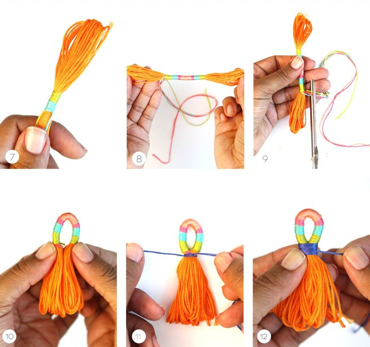 DIY Πολύχρωμες Διακοσμητικές Φούντες   Φτιάξτο μόνος σου - Κατασκευές DIY - Do it yourself