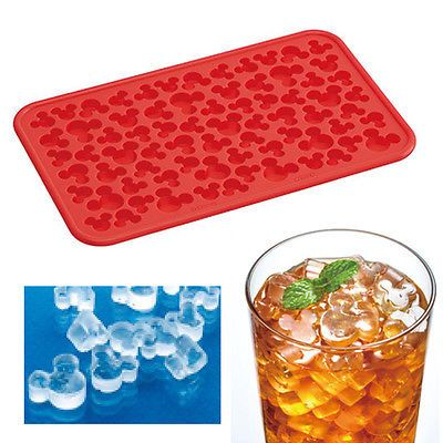 Disney Mickey Mouse Silicone Mini Ice Cube Tray Chocolate Candy Face Mold Cute