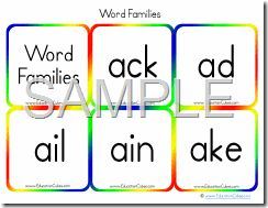 Education Cubes ~ Word Families