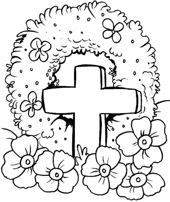 Remembrance Day colouring page