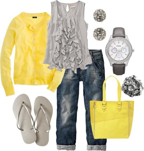 """""""geel en grijs"""" by lynstemmerman."""