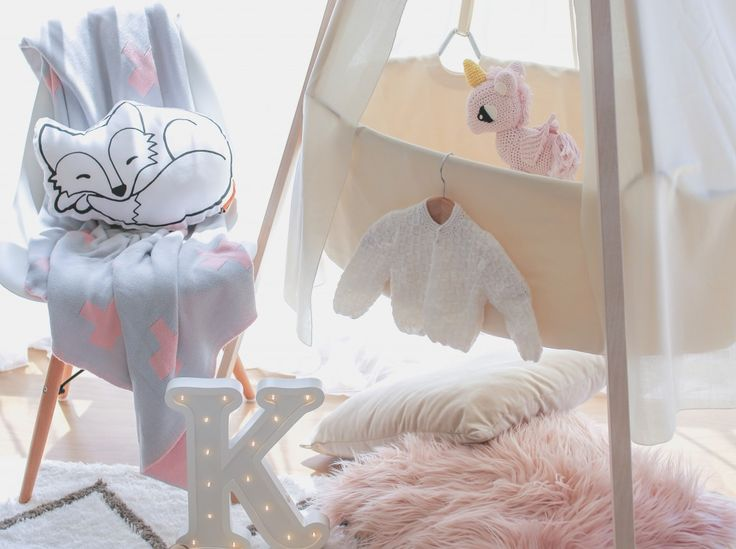 "Pretty In Pink: ""Pantone's colours of the year are a sweet Rose Quartz for the girls, and a calming and beautiful Serenity for the boys. This month I'm going to show you how you can add the very much on trend Rose Quartz to your daughter's nursery to create a super stylish and gorgeous bedroom for your little princess."""