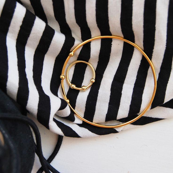Jupiter Bangle & Ring by Mila Silver Shoponline: https://www.milasilver.se/ringar/1-mila-jupiter-ring-guld.html