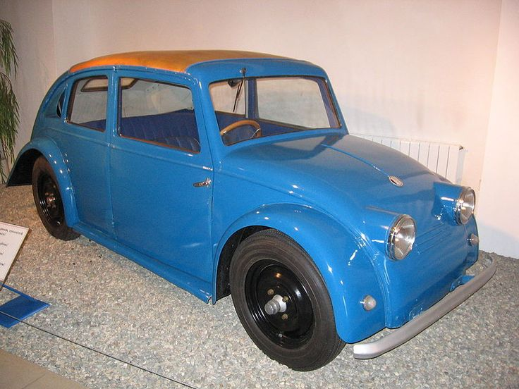 Tatra V 570 designed by Hans Ledwinka in 1933. Confessed inspiration for Ferdinand Porsche and his VW Beetle.