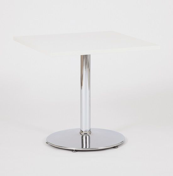 With A Square Round Top And Sturdy Chrome Base, The Vento #bistrotable Is  Beautifully
