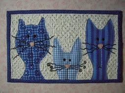 cats mug rug