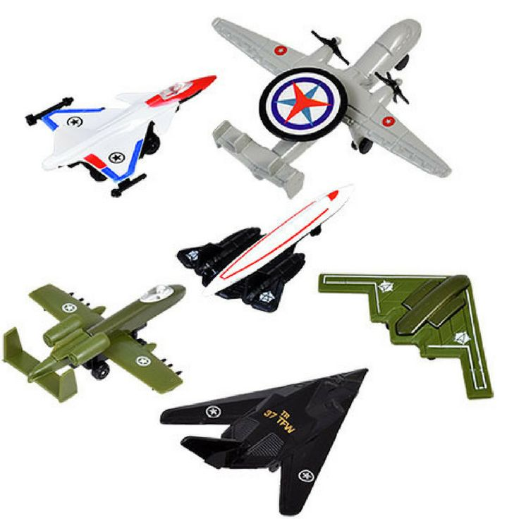 Air Force Jets Planes 2 piece Set Military Die-cast Metal One Random Type 4 inch