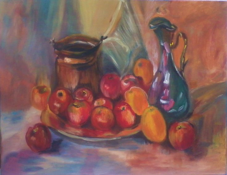 Fruits.Oil On canvas by Litsa Raftopoulou