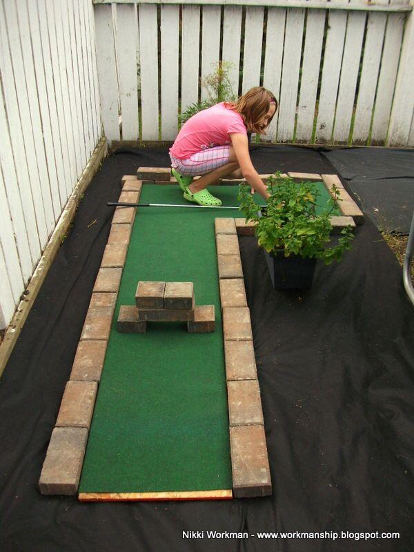 Home Made Miniature Golf Hole. Backyard WalkwayBackyard GamesOutdoor ...